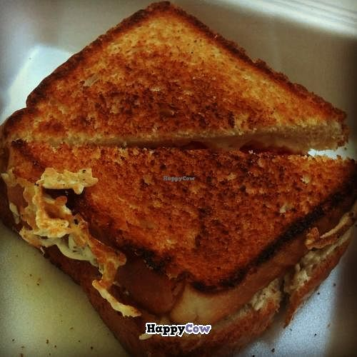 """Photo of MELT - A Grilled Cheese Food Truck  by <a href=""""/members/profile/noHamInTheHam"""">noHamInTheHam</a> <br/>Vegan grilled cheese with tomatoes <br/> October 18, 2013  - <a href='/contact/abuse/image/39363/56889'>Report</a>"""