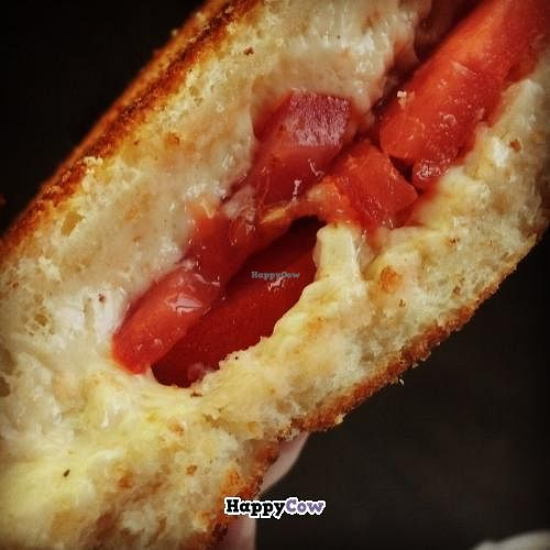 """Photo of MELT - A Grilled Cheese Food Truck  by <a href=""""/members/profile/noHamInTheHam"""">noHamInTheHam</a> <br/>Vegan grilled cheese with tomatoes <br/> October 18, 2013  - <a href='/contact/abuse/image/39363/56890'>Report</a>"""