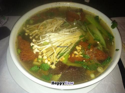 """Photo of Pho and Hot Pot  by <a href=""""/members/profile/kmilitello"""">kmilitello</a> <br/>Vegetarian Pho <br/> July 3, 2013  - <a href='/contact/abuse/image/39383/50671'>Report</a>"""