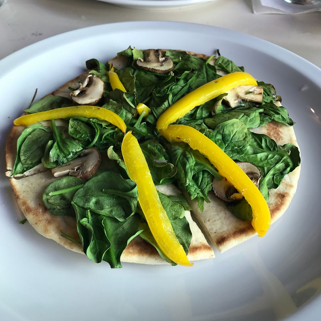"""Photo of St Germain Bistro and Cafe  by <a href=""""/members/profile/xmrfigx"""">xmrfigx</a> <br/>Spinach Mushroom and Peppers Pita Pizza <br/> February 14, 2017  - <a href='/contact/abuse/image/39402/226588'>Report</a>"""