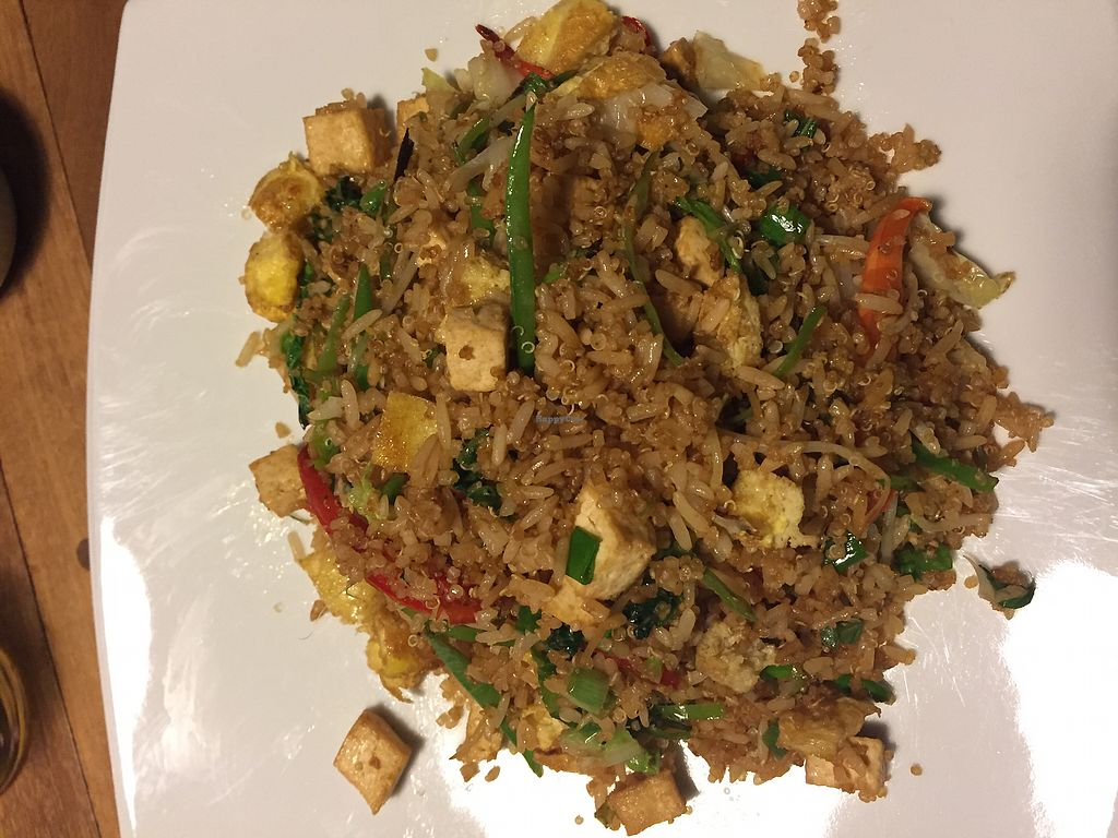 "Photo of Cafe Andino  by <a href=""/members/profile/Dianebg"">Dianebg</a> <br/>Fried rice and quinoa with veggies and tofu  <br/> November 10, 2017  - <a href='/contact/abuse/image/39403/324035'>Report</a>"