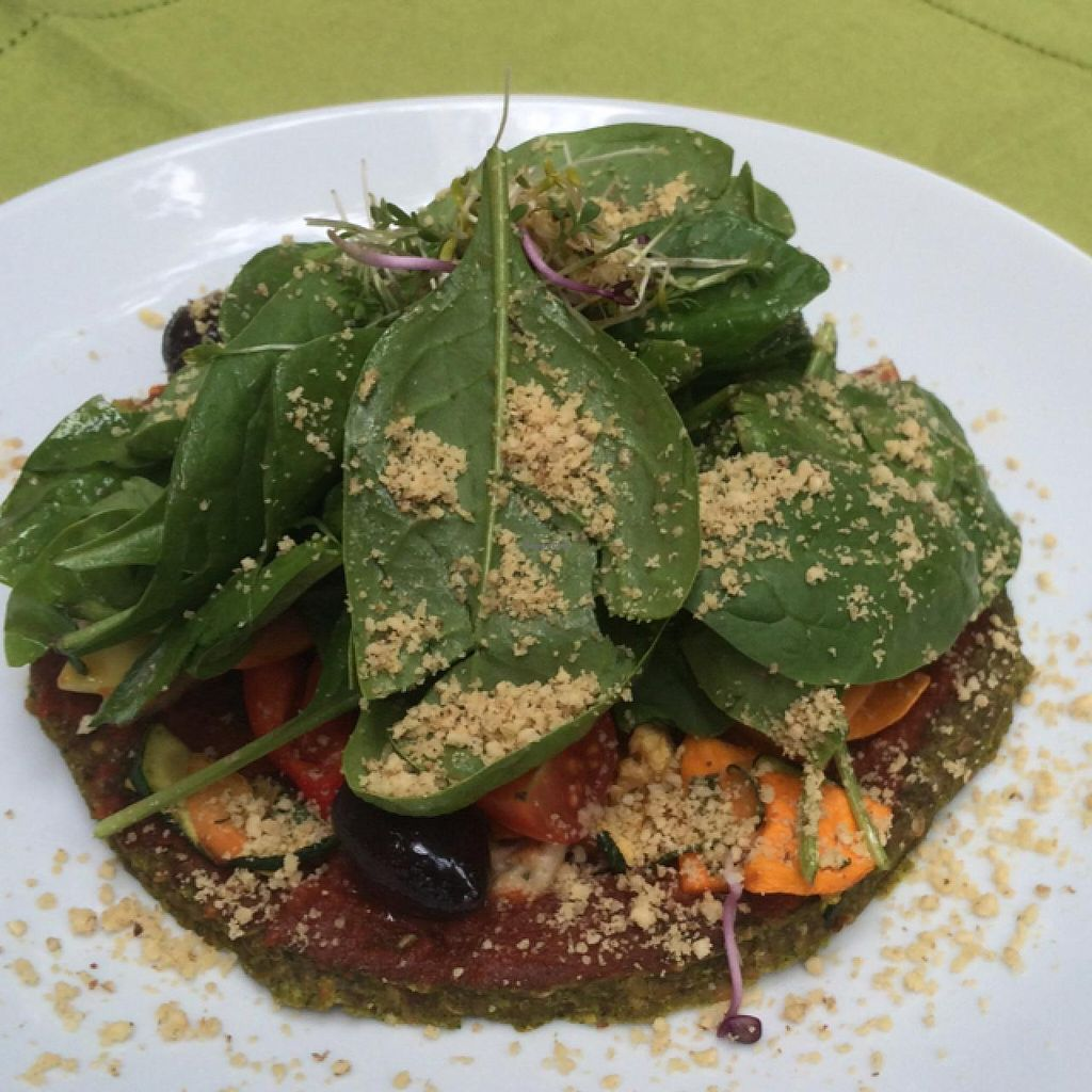 """Photo of Dancing Shiva Superfoods  by <a href=""""/members/profile/RoiYaron"""">RoiYaron</a> <br/>Raw vegan pizza <br/> June 2, 2015  - <a href='/contact/abuse/image/39429/104512'>Report</a>"""
