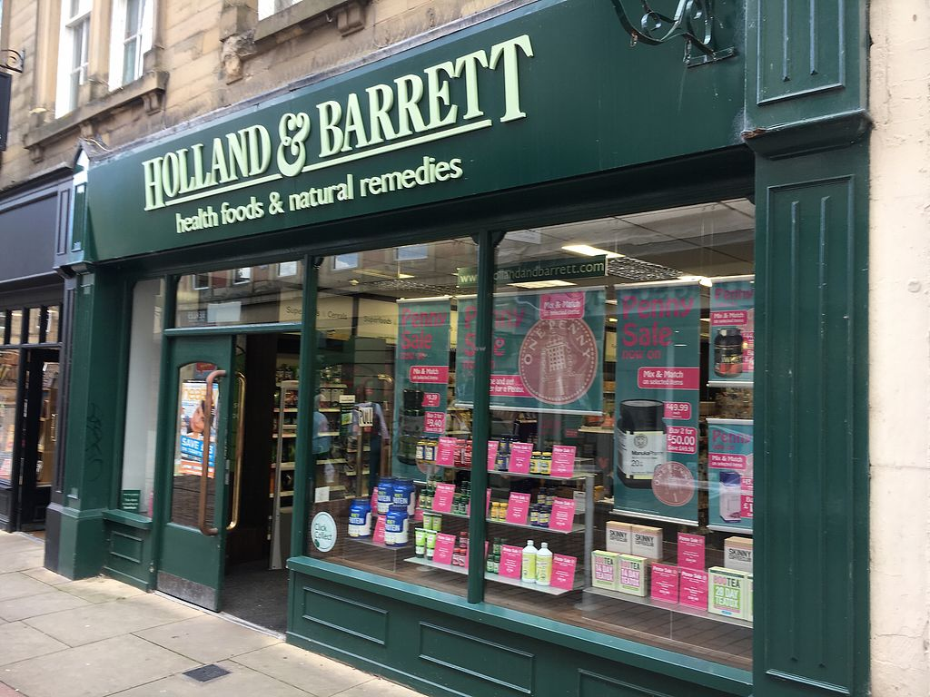 "Photo of Holland and Barrett  by <a href=""/members/profile/hack_man"">hack_man</a> <br/>Outside <br/> August 18, 2017  - <a href='/contact/abuse/image/39482/294002'>Report</a>"