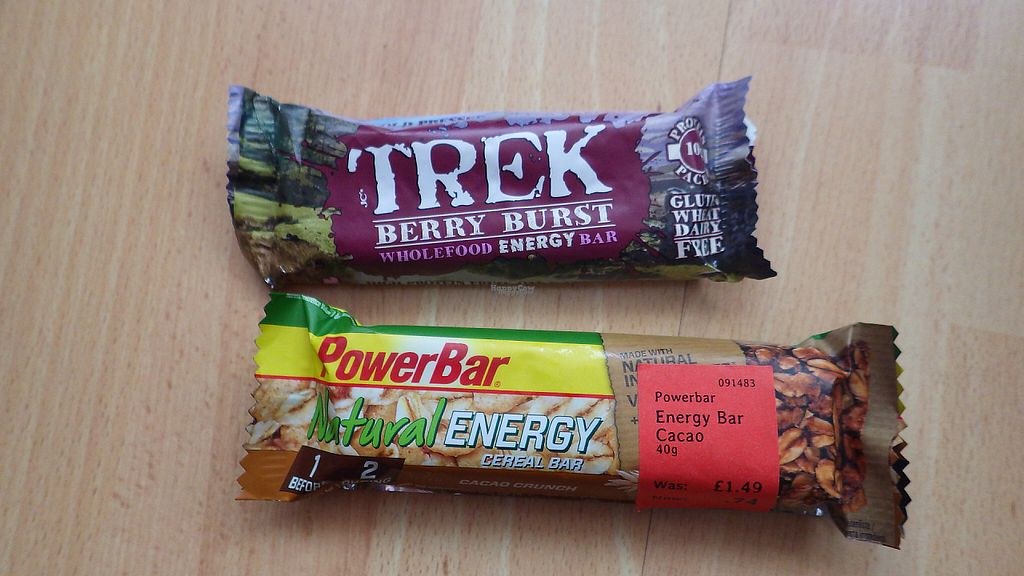 """Photo of Holland and Barrett  by <a href=""""/members/profile/deadpledge"""">deadpledge</a> <br/>Vegan energy bars <br/> April 16, 2017  - <a href='/contact/abuse/image/39483/248913'>Report</a>"""