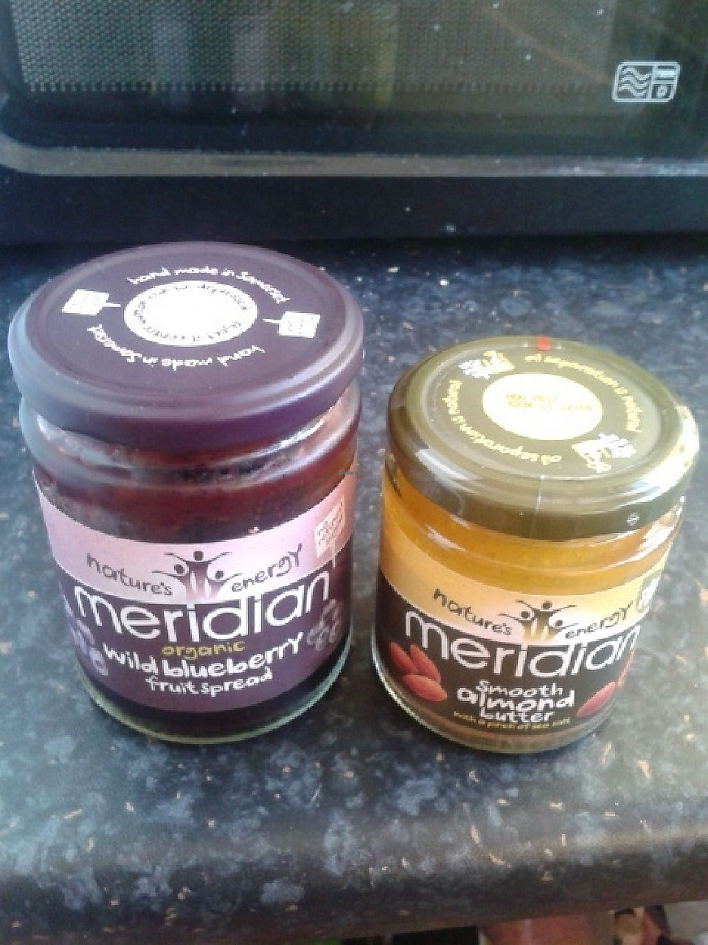 """Photo of Holland and Barrett  by <a href=""""/members/profile/deadpledge"""">deadpledge</a> <br/>Vegan blackberry jam and almond butter <br/> June 1, 2017  - <a href='/contact/abuse/image/39483/264726'>Report</a>"""