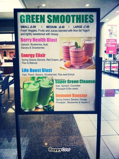 """Photo of Mr Smoothie Cafe  by <a href=""""/members/profile/hangslo12"""">hangslo12</a> <br/>Green smoothie menu <br/> December 13, 2013  - <a href='/contact/abuse/image/39497/60279'>Report</a>"""