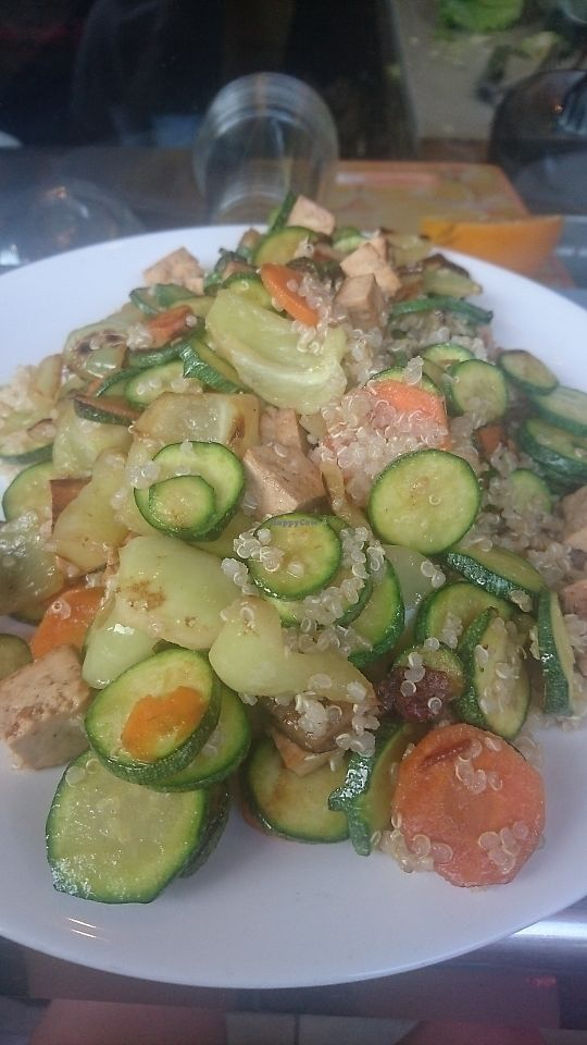 "Photo of Vege Fast Food  by <a href=""/members/profile/Yazbel"">Yazbel</a> <br/>Quinoa with grilled veggies & tofu <br/> July 29, 2017  - <a href='/contact/abuse/image/39501/286117'>Report</a>"