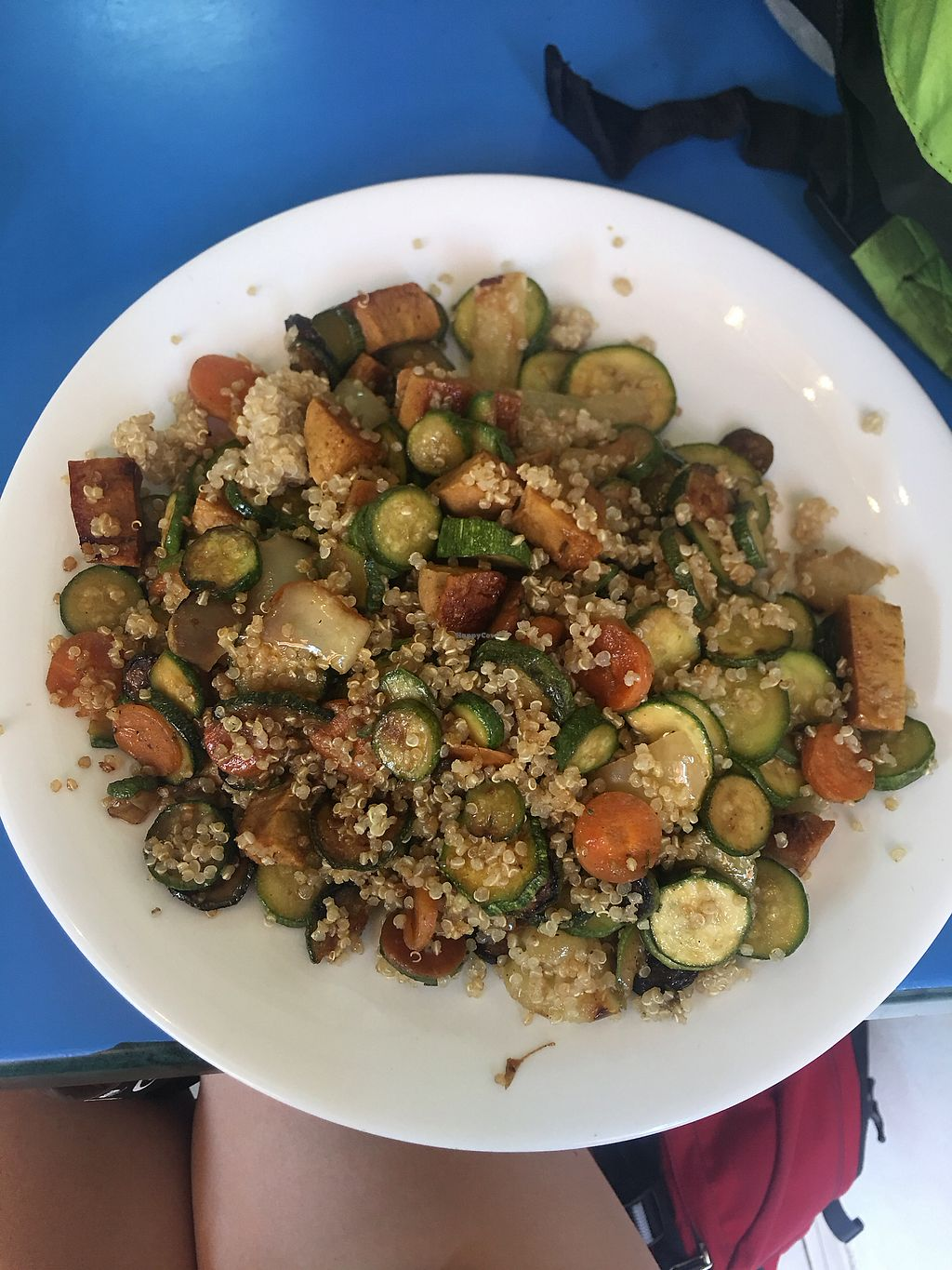 "Photo of Vege Fast Food  by <a href=""/members/profile/PaigeG"">PaigeG</a> <br/>Quinoa and mixed vegetables  <br/> August 19, 2017  - <a href='/contact/abuse/image/39501/294201'>Report</a>"