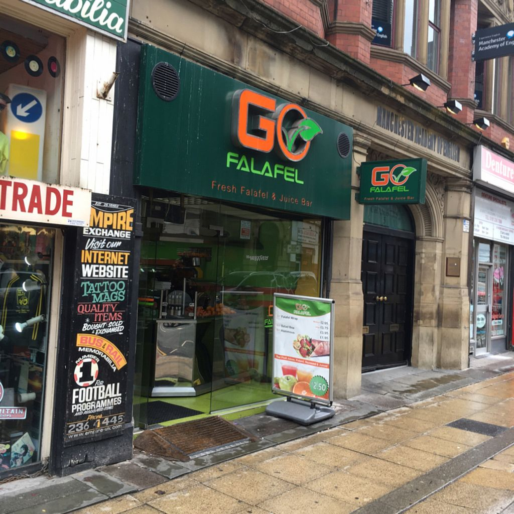 """Photo of Go Falafel - Piccadilly Gardens  by <a href=""""/members/profile/hack_man"""">hack_man</a> <br/>outside  <br/> August 20, 2016  - <a href='/contact/abuse/image/39503/170215'>Report</a>"""