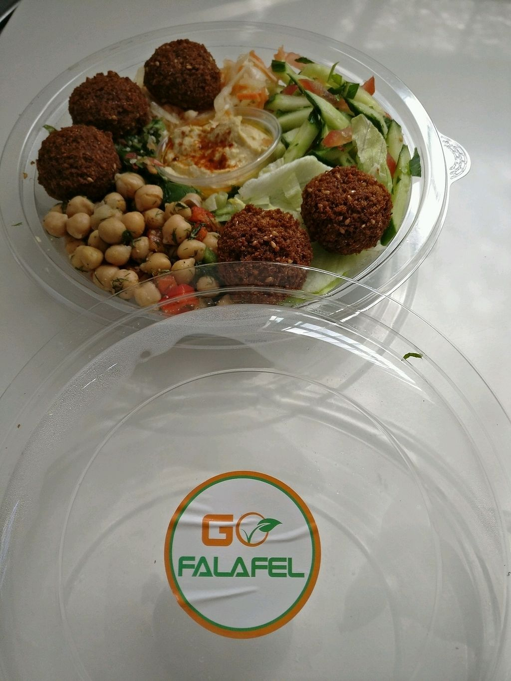 """Photo of Go Falafel - Piccadilly Gardens  by <a href=""""/members/profile/Disappeared"""">Disappeared</a> <br/>Lunch bowl  <br/> July 1, 2017  - <a href='/contact/abuse/image/39503/275632'>Report</a>"""