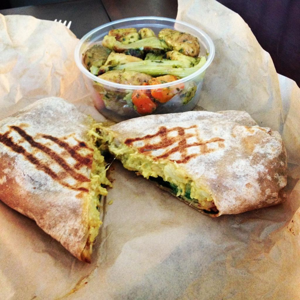"""Photo of Mendocino Farms  by <a href=""""/members/profile/FromVegtoVegan"""">FromVegtoVegan</a> <br/>Singaporean dosa w/ side of root vegetables. all vegan  <br/> January 8, 2014  - <a href='/contact/abuse/image/39511/62122'>Report</a>"""