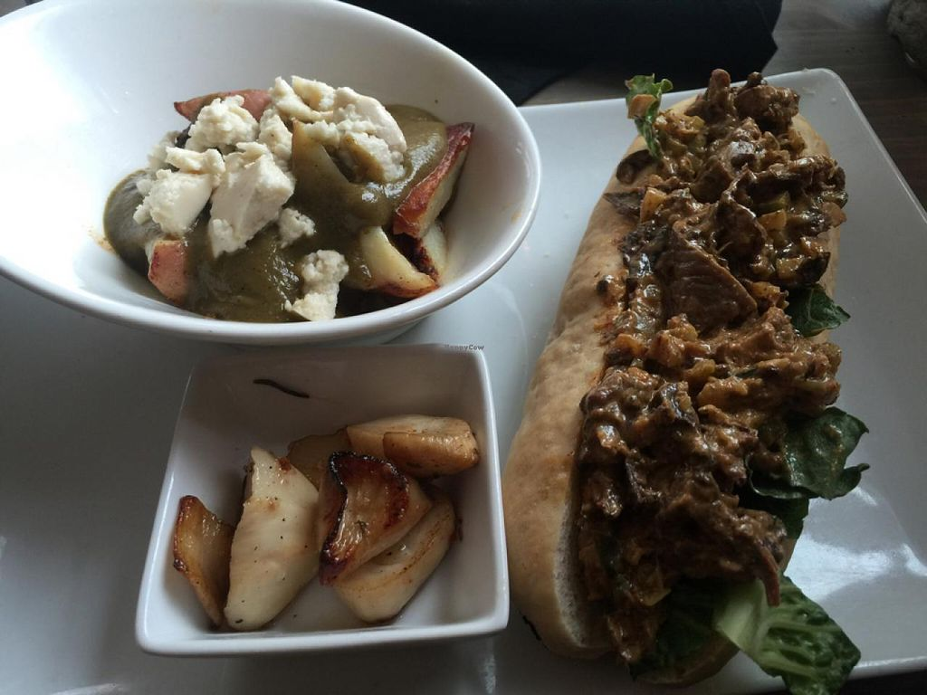 "Photo of enVie A Vegan Kitchen  by <a href=""/members/profile/gwild"">gwild</a> <br/>vegan lobster roll with poutine and scallops <br/> June 7, 2015  - <a href='/contact/abuse/image/39515/105043'>Report</a>"