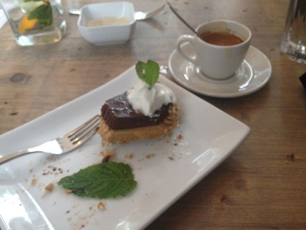 "Photo of enVie A Vegan Kitchen  by <a href=""/members/profile/o0Carolyn0o"">o0Carolyn0o</a> <br/>peanut butter pie with a pretzel crust and chocolate espresso topping.  <br/> September 27, 2016  - <a href='/contact/abuse/image/39515/178192'>Report</a>"