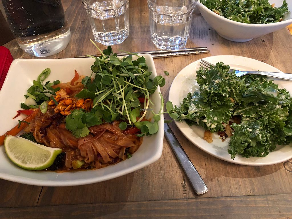 "Photo of enVie A Vegan Kitchen  by <a href=""/members/profile/CathSJ"">CathSJ</a> <br/>Pad Thai and kale Cesar  <br/> February 19, 2018  - <a href='/contact/abuse/image/39515/361273'>Report</a>"