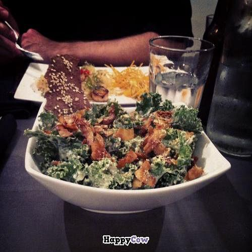 "Photo of enVie A Vegan Kitchen  by <a href=""/members/profile/trematode"">trematode</a> <br/>Kale Caesar salad <br/> November 25, 2013  - <a href='/contact/abuse/image/39515/59113'>Report</a>"