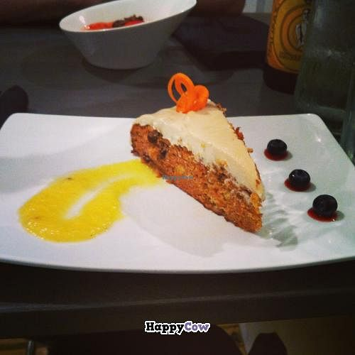 "Photo of enVie A Vegan Kitchen  by <a href=""/members/profile/trematode"">trematode</a> <br/>Gluten free carrot cake <br/> November 25, 2013  - <a href='/contact/abuse/image/39515/59115'>Report</a>"
