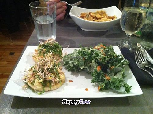 "Photo of enVie A Vegan Kitchen  by <a href=""/members/profile/trematode"">trematode</a> <br/>Smashed chickpea sandwich with a side kale caesar <br/> November 25, 2013  - <a href='/contact/abuse/image/39515/59117'>Report</a>"