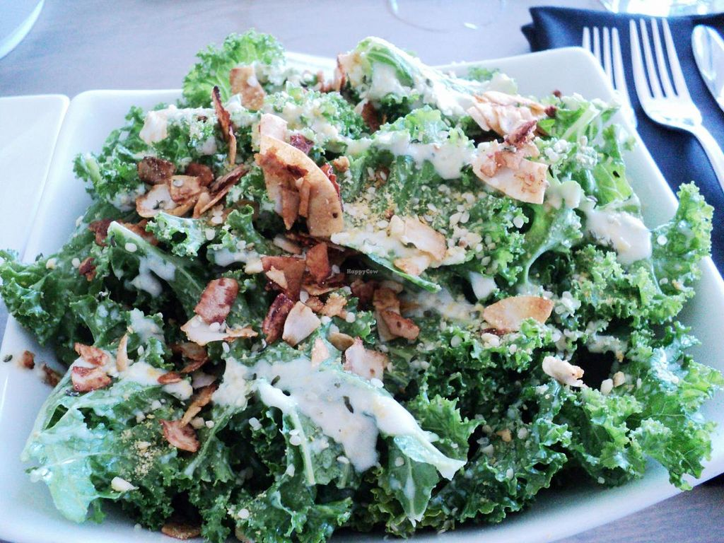 Photo of enVie A Vegan Kitchen  by Eco Cay <br/>Kale Caesar! Delicious, homemade, local!  <br/> May 28, 2014  - <a href='/contact/abuse/image/39515/70942'>Report</a>