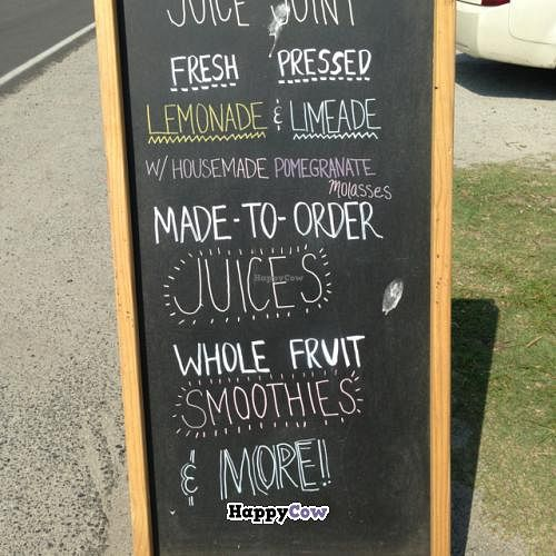 """Photo of Juice Joint - Food Truck  by <a href=""""/members/profile/veganjess86"""">veganjess86</a> <br/>sign <br/> June 28, 2013  - <a href='/contact/abuse/image/39550/50351'>Report</a>"""