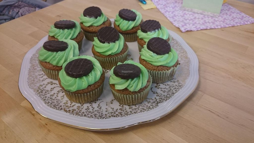 """Photo of Cafe Fleischlos  by <a href=""""/members/profile/Nisi"""">Nisi</a> <br/>Chocolate Peppermint Cupcakes, Café Fleischlos  <br/> May 21, 2015  - <a href='/contact/abuse/image/39557/102962'>Report</a>"""