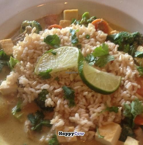 """Photo of Gathering Cafe  by <a href=""""/members/profile/nardanddee"""">nardanddee</a> <br/>Panang Curry with Tofu <br/> October 8, 2013  - <a href='/contact/abuse/image/39559/56412'>Report</a>"""
