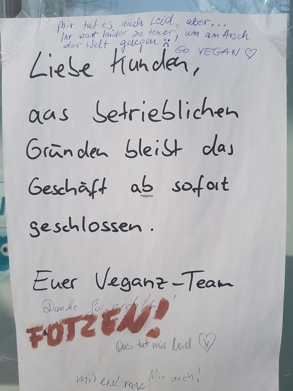 "Photo of CLOSED: Veganz - Hamburg  by <a href=""/members/profile/24nico24"">24nico24</a> <br/>Leider geschlossen <br/> March 26, 2017  - <a href='/contact/abuse/image/39573/241188'>Report</a>"