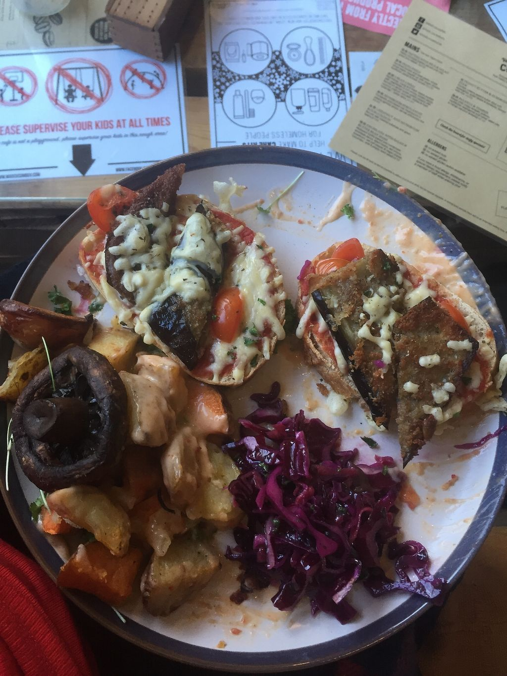 """Photo of Mad Cucumber - Vegan Lounge  by <a href=""""/members/profile/small_trees"""">small_trees</a> <br/>Breaded aubergine and cheese toasty <br/> January 29, 2018  - <a href='/contact/abuse/image/39613/352162'>Report</a>"""