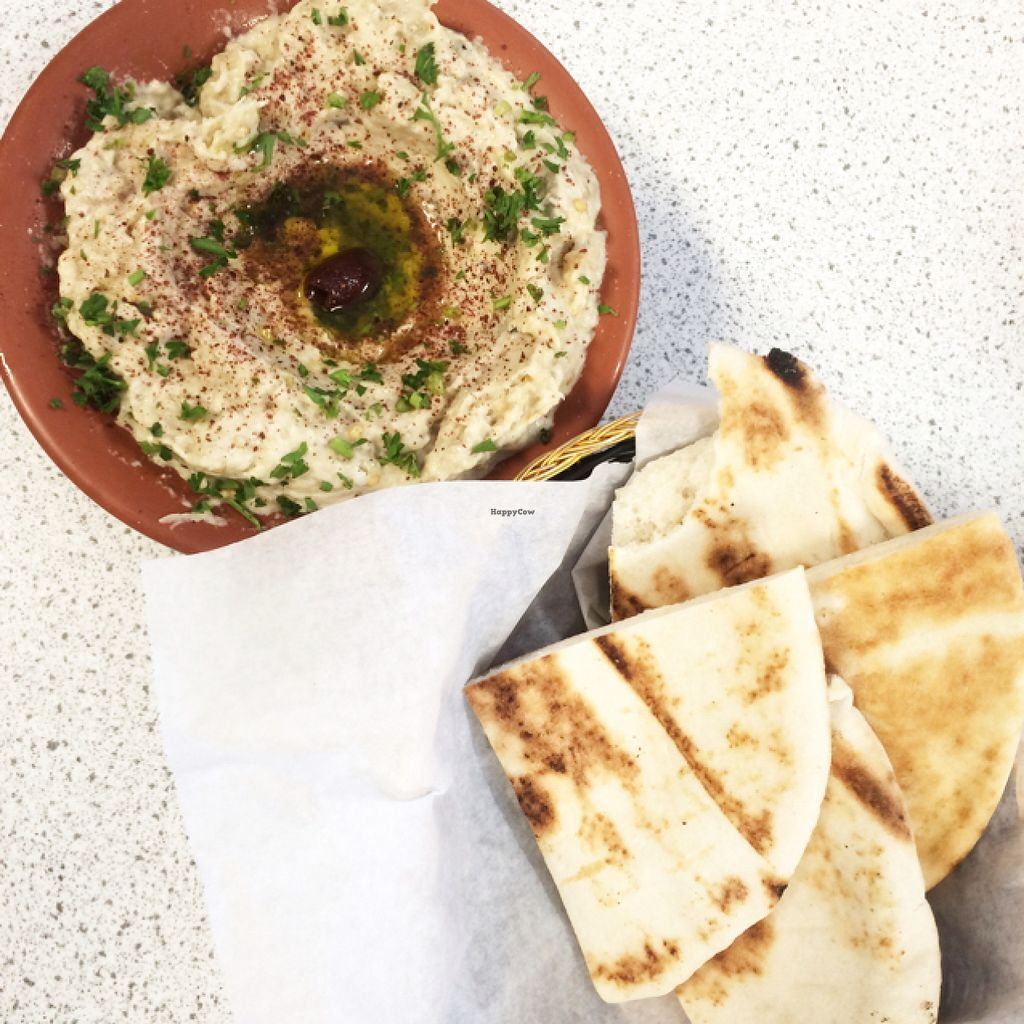 "Photo of Tabouleh Mediterranean Cafe  by <a href=""/members/profile/mariexhb"">mariexhb</a> <br/>Baba Ghanoush & Pita <br/> July 27, 2016  - <a href='/contact/abuse/image/39622/162754'>Report</a>"