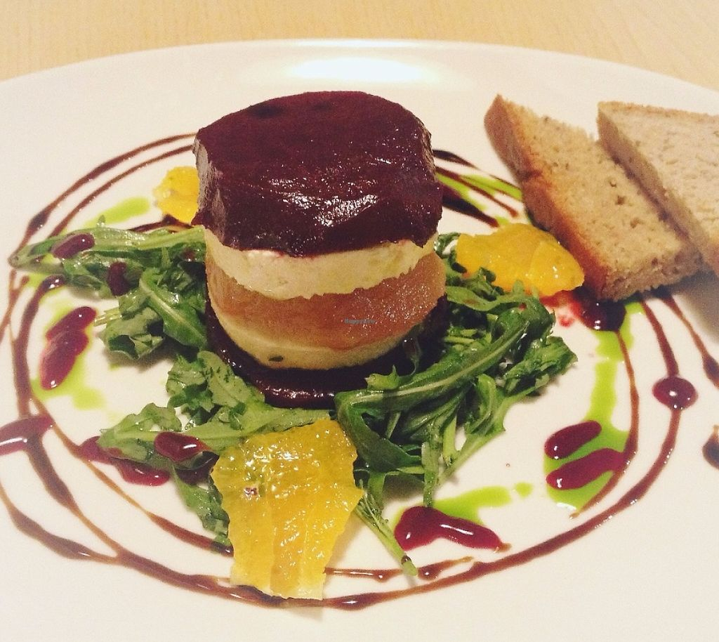 """Photo of Plevel  by <a href=""""/members/profile/treemelody"""">treemelody</a> <br/>Marinated beetroot with silky tofu, orange and homemade bread <br/> July 7, 2016  - <a href='/contact/abuse/image/39637/236366'>Report</a>"""