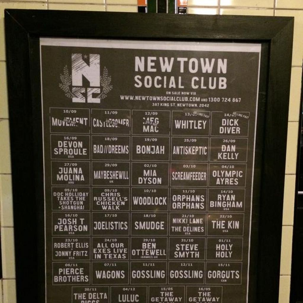 """Photo of REMOVED: Newtown Social Club Hotel  by <a href=""""/members/profile/robivore"""">robivore</a> <br/>upcoming shows <br/> September 27, 2014  - <a href='/contact/abuse/image/39639/81271'>Report</a>"""