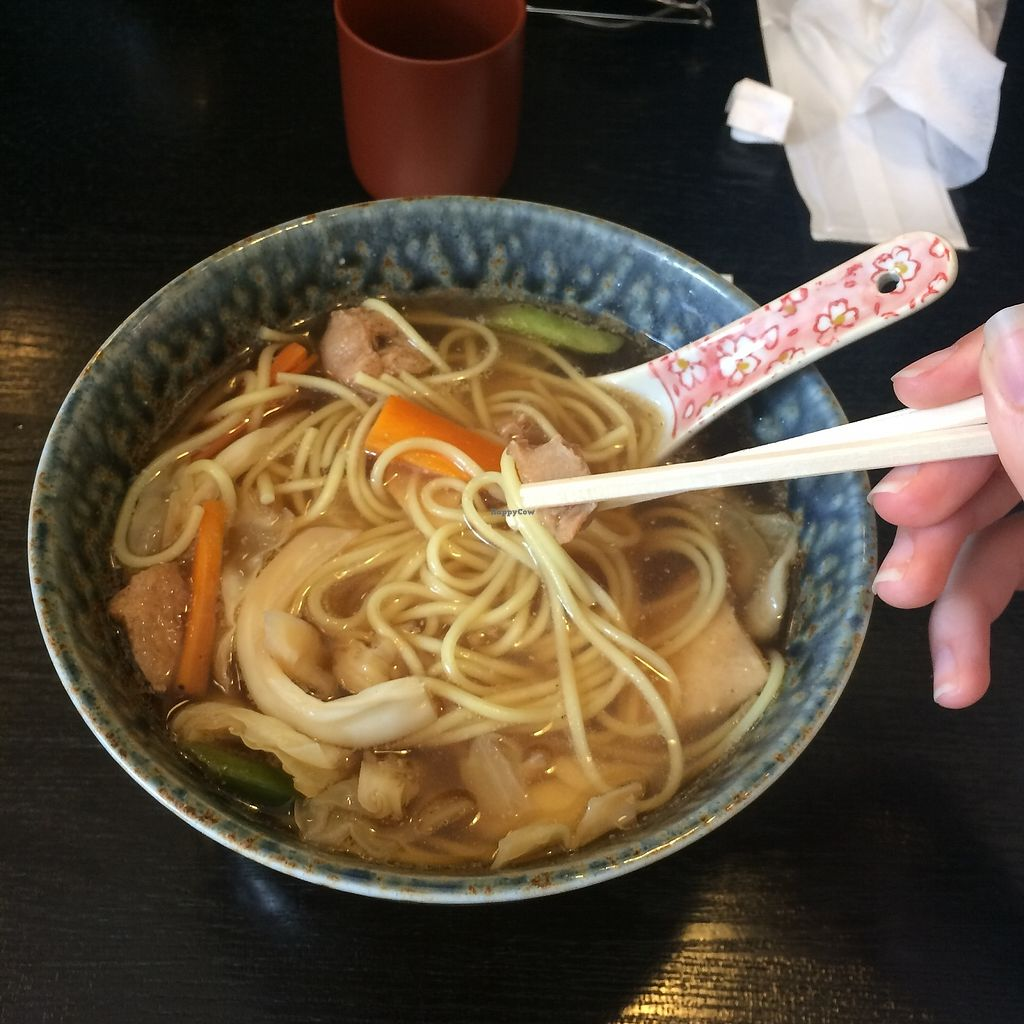 "Photo of Kinatei  by <a href=""/members/profile/Nutriella"">Nutriella</a> <br/>Vegan ramen <br/> July 11, 2017  - <a href='/contact/abuse/image/39690/279003'>Report</a>"
