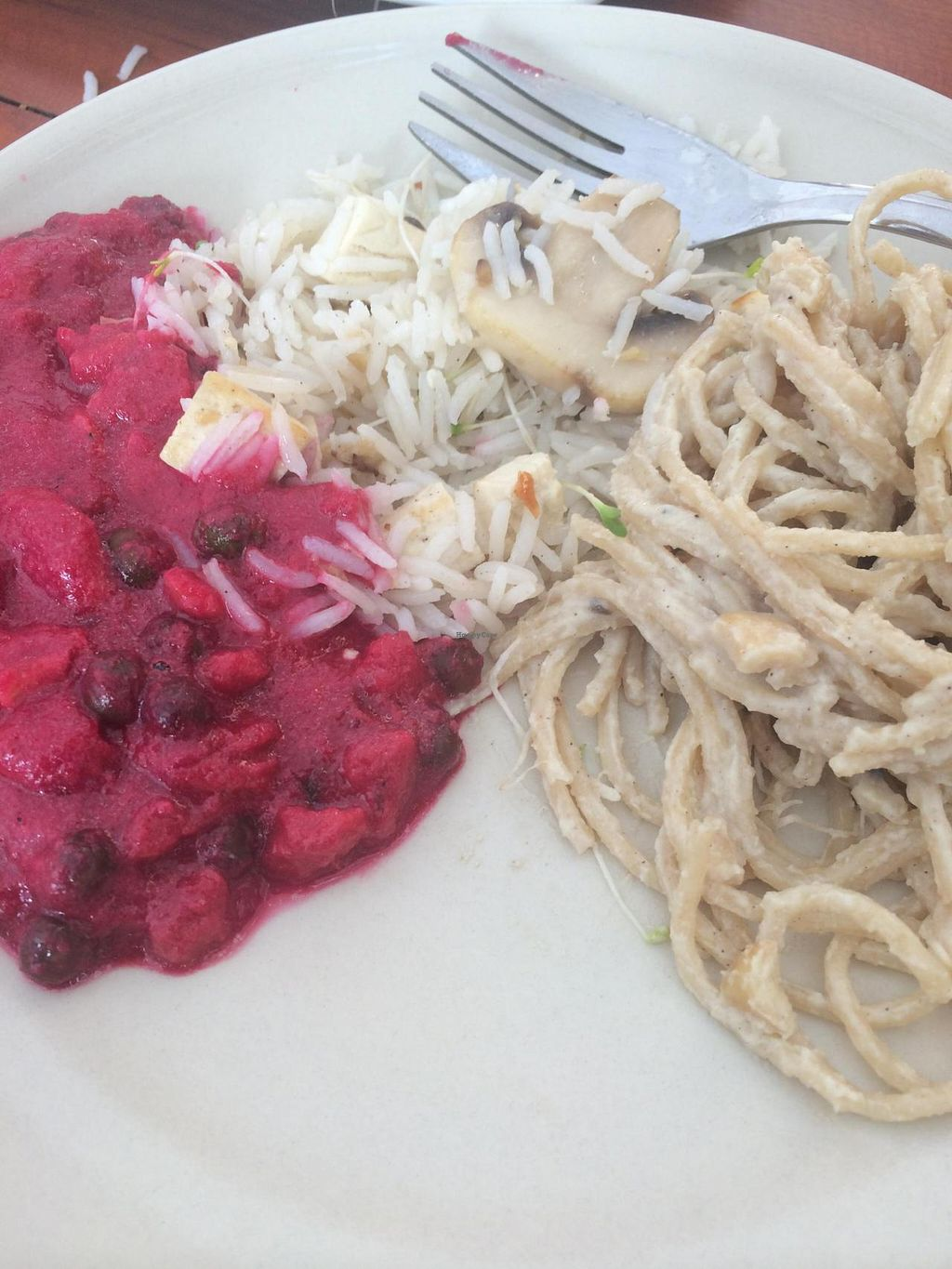 """Photo of CLOSED: Govinda  by <a href=""""/members/profile/JazzyCow"""">JazzyCow</a> <br/>Portions of a few different mains -- very rich tasting and filling! <br/> August 10, 2014  - <a href='/contact/abuse/image/39707/76604'>Report</a>"""