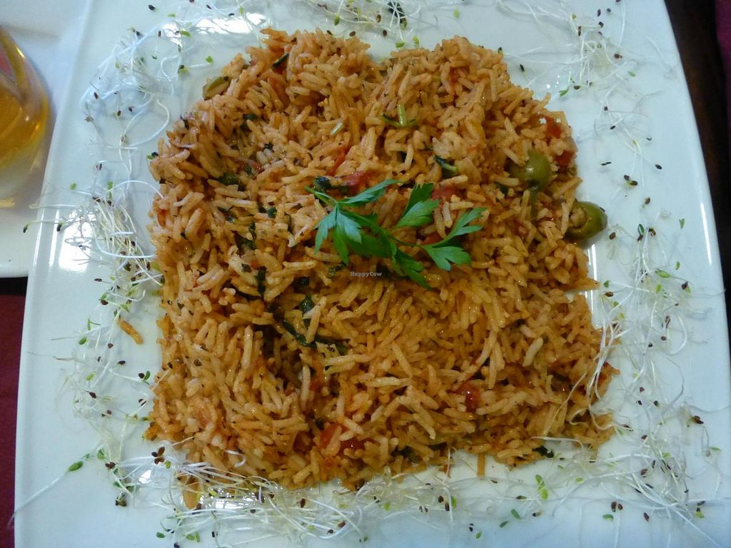 """Photo of CLOSED: Govinda  by <a href=""""/members/profile/barbaramaidel"""">barbaramaidel</a> <br/>Risotto with tomatoes and basil: perfect <br/> August 13, 2014  - <a href='/contact/abuse/image/39707/76890'>Report</a>"""