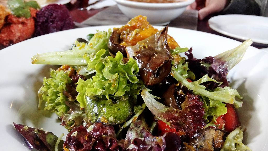 """Photo of Earthly Pleasures Cafe  by <a href=""""/members/profile/verbosity"""">verbosity</a> <br/>Warm vegetable salad <br/> August 3, 2015  - <a href='/contact/abuse/image/39733/112072'>Report</a>"""