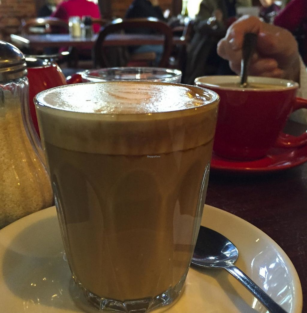 """Photo of Earthly Pleasures Cafe  by <a href=""""/members/profile/karlaess"""">karlaess</a> <br/>soy latte <br/> July 8, 2015  - <a href='/contact/abuse/image/39733/255764'>Report</a>"""
