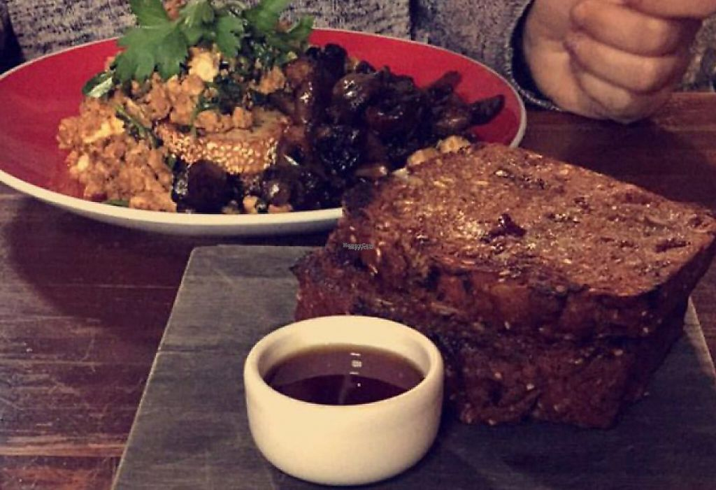 """Photo of Earthly Pleasures Cafe  by <a href=""""/members/profile/VeganVibes"""">VeganVibes</a> <br/>tofu scramble & banana bread <br/> January 21, 2017  - <a href='/contact/abuse/image/39733/255767'>Report</a>"""