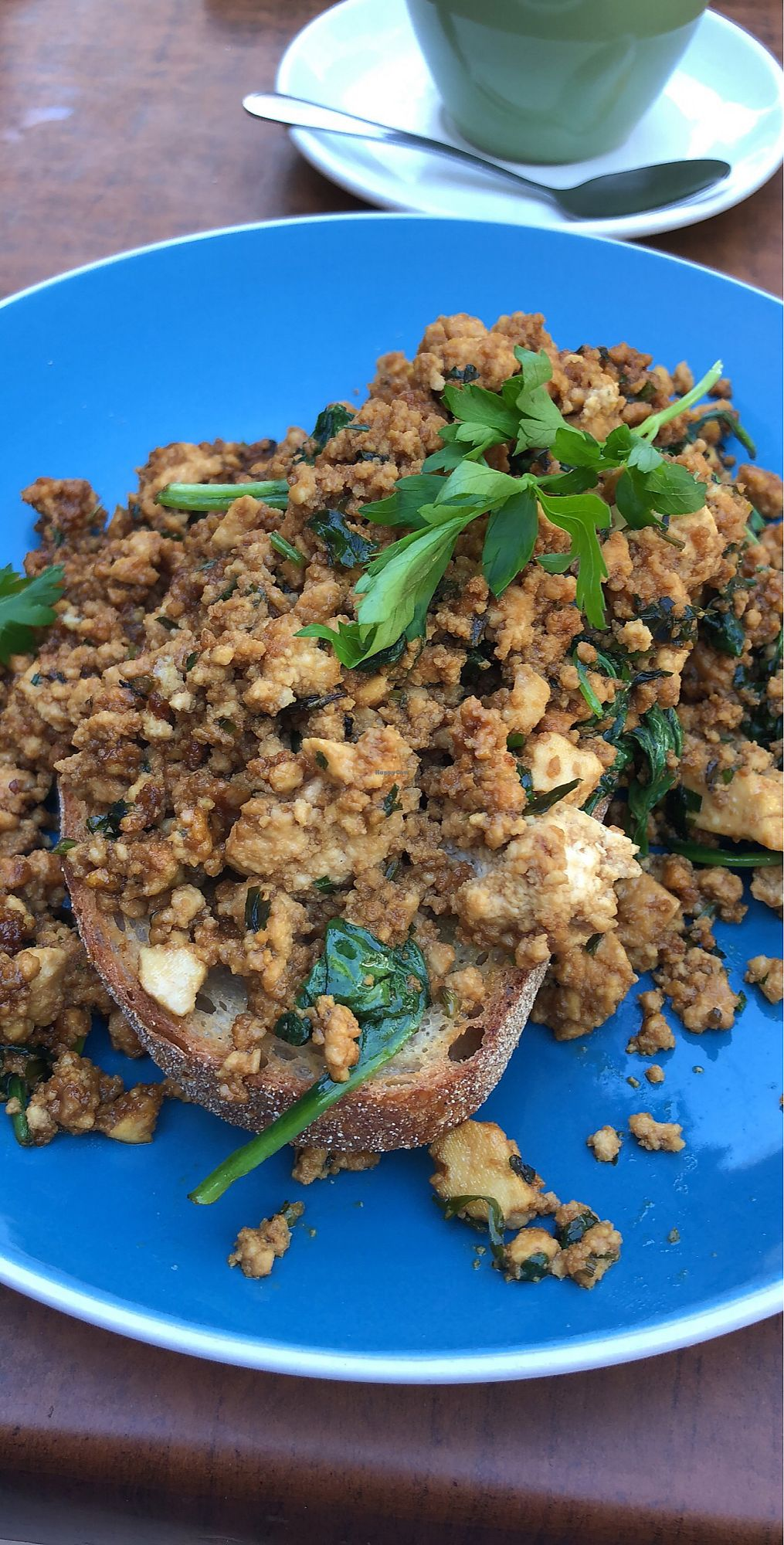 """Photo of Earthly Pleasures Cafe  by <a href=""""/members/profile/emilysarah13"""">emilysarah13</a> <br/>Tofu Scramble with a gorgeous sweet Kecap Manis sauce giving it a delectable sweet and savoury mix <br/> March 14, 2018  - <a href='/contact/abuse/image/39733/370752'>Report</a>"""