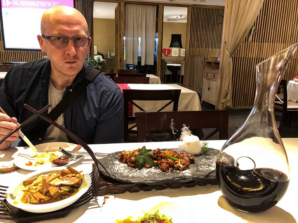 """Photo of SuZhi Pure Vegan Tea & Restaurant  by <a href=""""/members/profile/PaulJGrey"""" class=""""title__title"""">PaulJGrey</a> <br/>The vegan fish has to be tried to believe! 5* meal. ?❤️ <br/> June 17, 2018  - <a href='/contact/abuse/image/39742/415618'>Report</a>"""