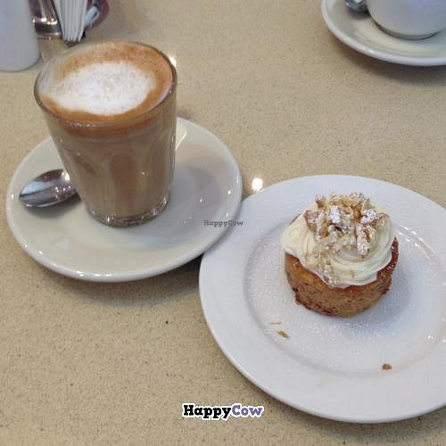 """Photo of Sterling Espresso Bar - maybe closed  by <a href=""""/members/profile/WeiShen"""">WeiShen</a> <br/>soy latte and carrot cake  <br/> July 8, 2013  - <a href='/contact/abuse/image/39789/50953'>Report</a>"""
