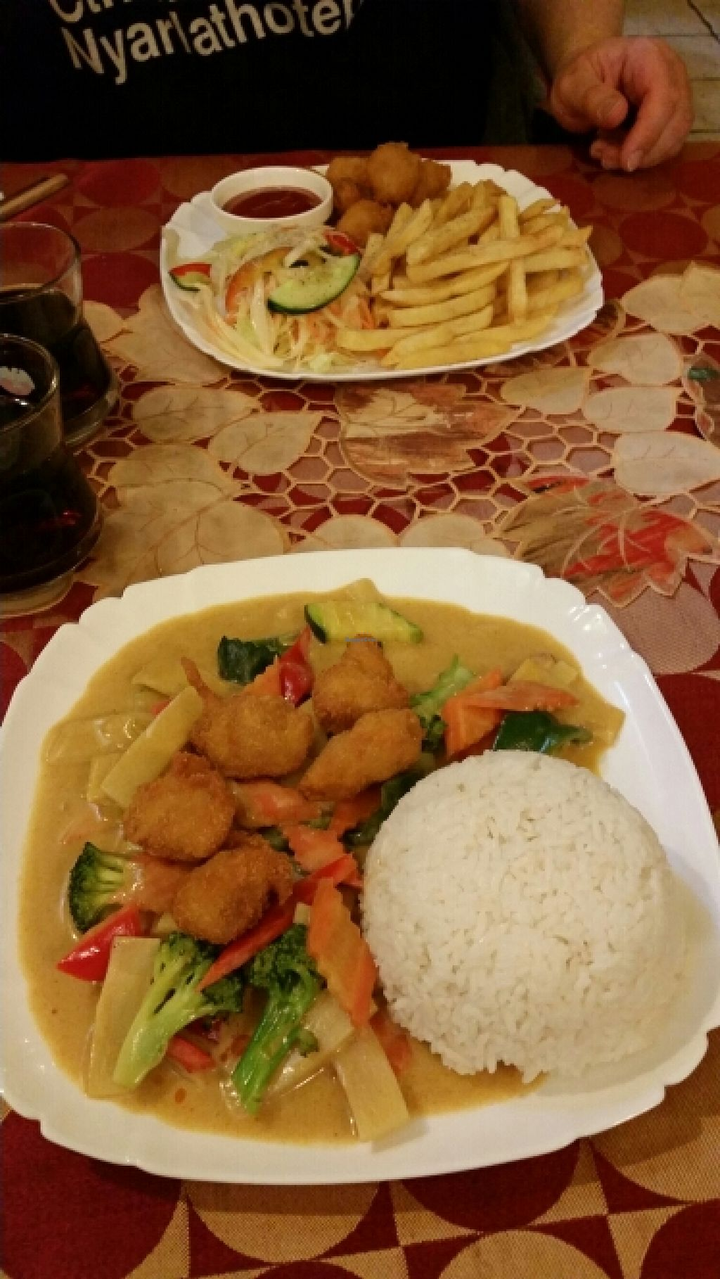 """Photo of CLOSED: Mr. Hau  by <a href=""""/members/profile/becky8ball"""">becky8ball</a> <br/>Top: cheerful balls. Bottom: Thai curry <br/> May 25, 2016  - <a href='/contact/abuse/image/39856/150771'>Report</a>"""