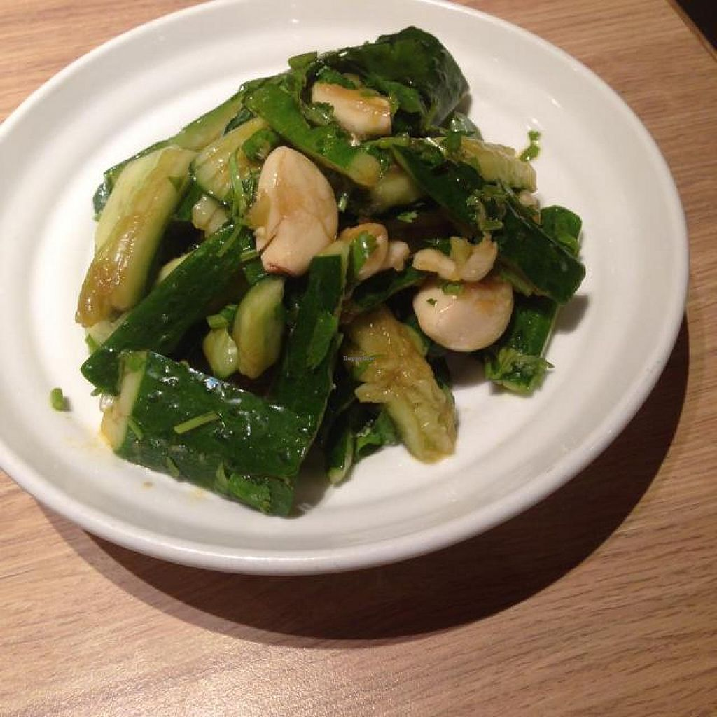 "Photo of Xibei You Mian Cun  by <a href=""/members/profile/AndyT"">AndyT</a> <br/>Cold cucumber and garlic, vegan <br/> September 3, 2014  - <a href='/contact/abuse/image/39869/78921'>Report</a>"