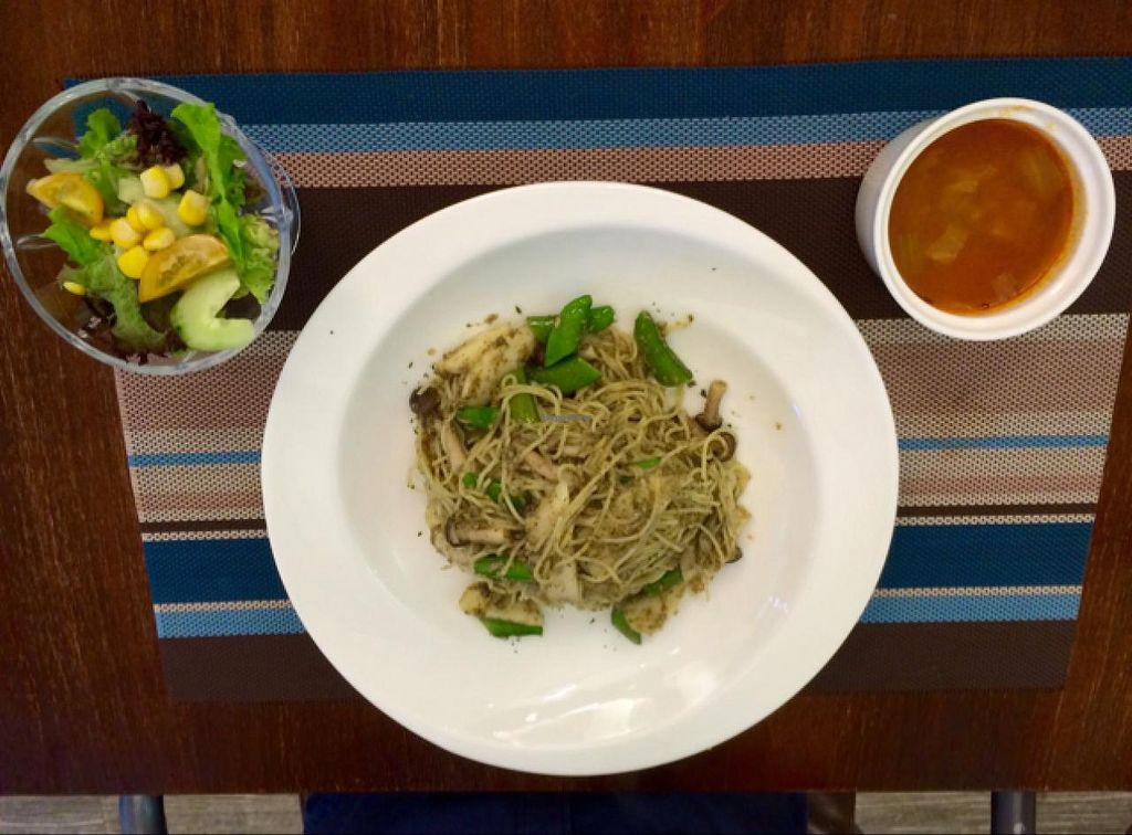 """Photo of CLOSED: Veggie Dot  by <a href=""""/members/profile/Tianci"""">Tianci</a> <br/>Angle Hair Toona Sinensis Sauce set lunch <br/> July 1, 2015  - <a href='/contact/abuse/image/39887/107880'>Report</a>"""