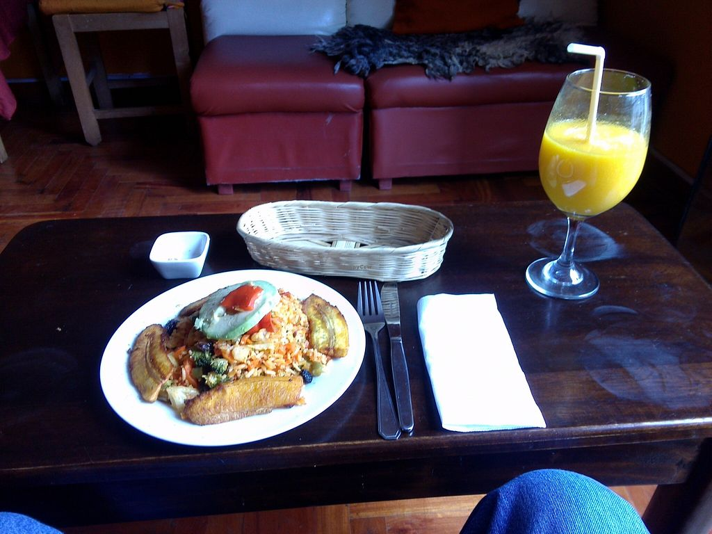 """Photo of CLOSED: Blue Alpaca Restaurant  by <a href=""""/members/profile/Ryecatcher"""">Ryecatcher</a> <br/>Vegan paella and mango juice <br/> May 25, 2016  - <a href='/contact/abuse/image/39889/150815'>Report</a>"""
