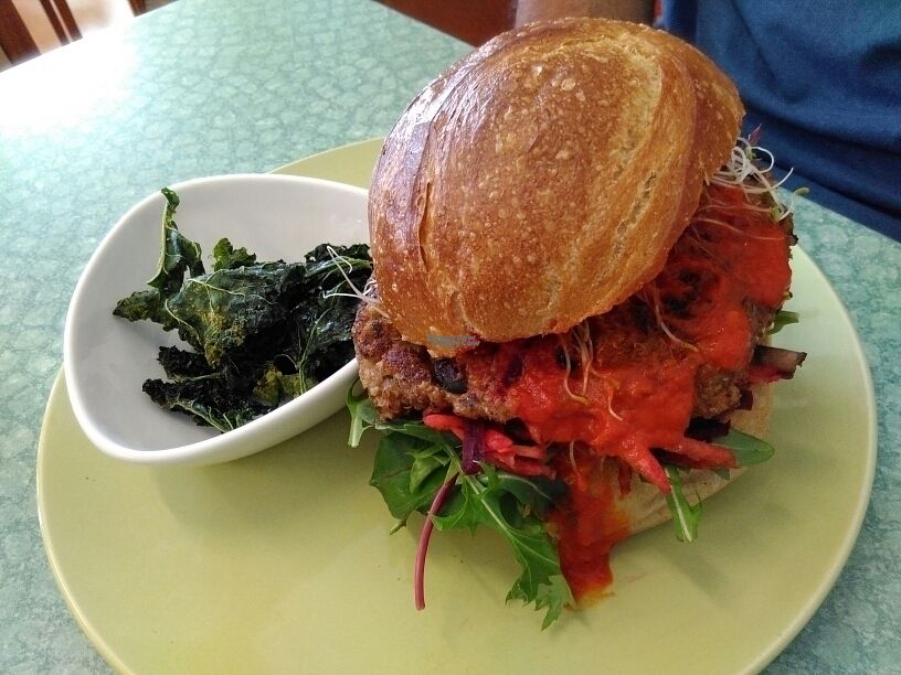 "Photo of CLOSED: Nettle Raw Cafe  by <a href=""/members/profile/PamellaSousa"">PamellaSousa</a> <br/>Vegan sweet potato & black bean burger <br/> September 10, 2016  - <a href='/contact/abuse/image/39923/174787'>Report</a>"