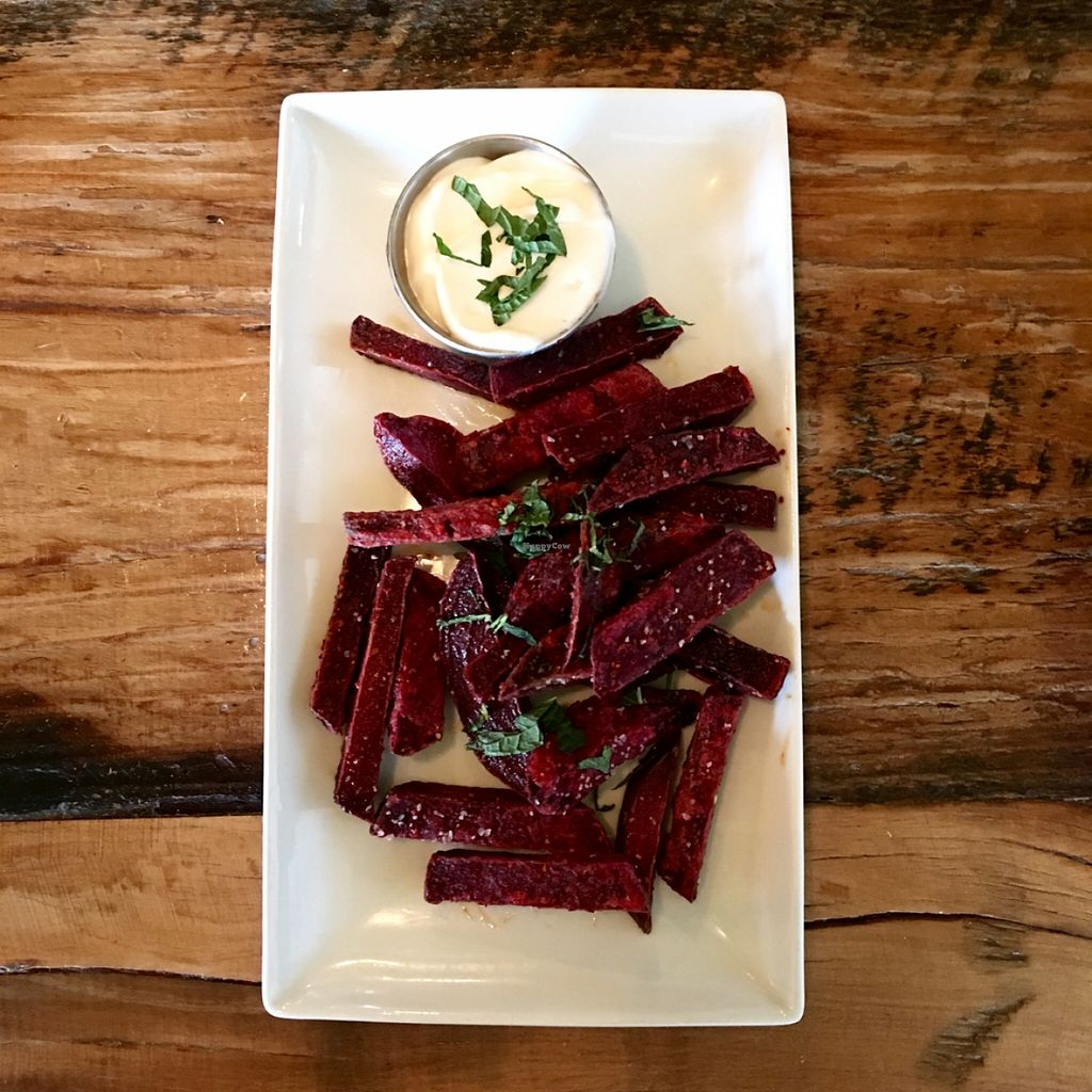 "Photo of Tree House  by <a href=""/members/profile/RikkiFox"">RikkiFox</a> <br/>Fried beets. Vegan aioli. To die for.  <br/> March 13, 2016  - <a href='/contact/abuse/image/39939/139839'>Report</a>"
