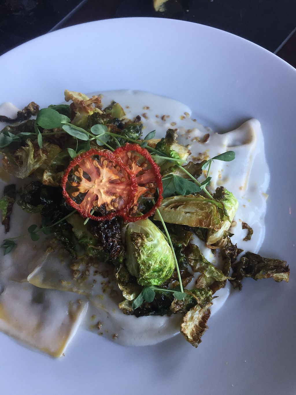 "Photo of Tree House  by <a href=""/members/profile/mcromeen"">mcromeen</a> <br/>vegan mushroom ravioli with cashew cream sauce <br/> July 8, 2017  - <a href='/contact/abuse/image/39939/277744'>Report</a>"