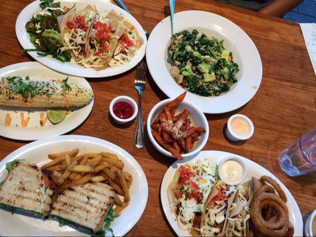 """Photo of CLOSED: The Veggie Grill - Irvine Crossroads  by <a href=""""/members/profile/samlove0134"""">samlove0134</a> <br/>our meal <br/> October 7, 2014  - <a href='/contact/abuse/image/39940/82357'>Report</a>"""