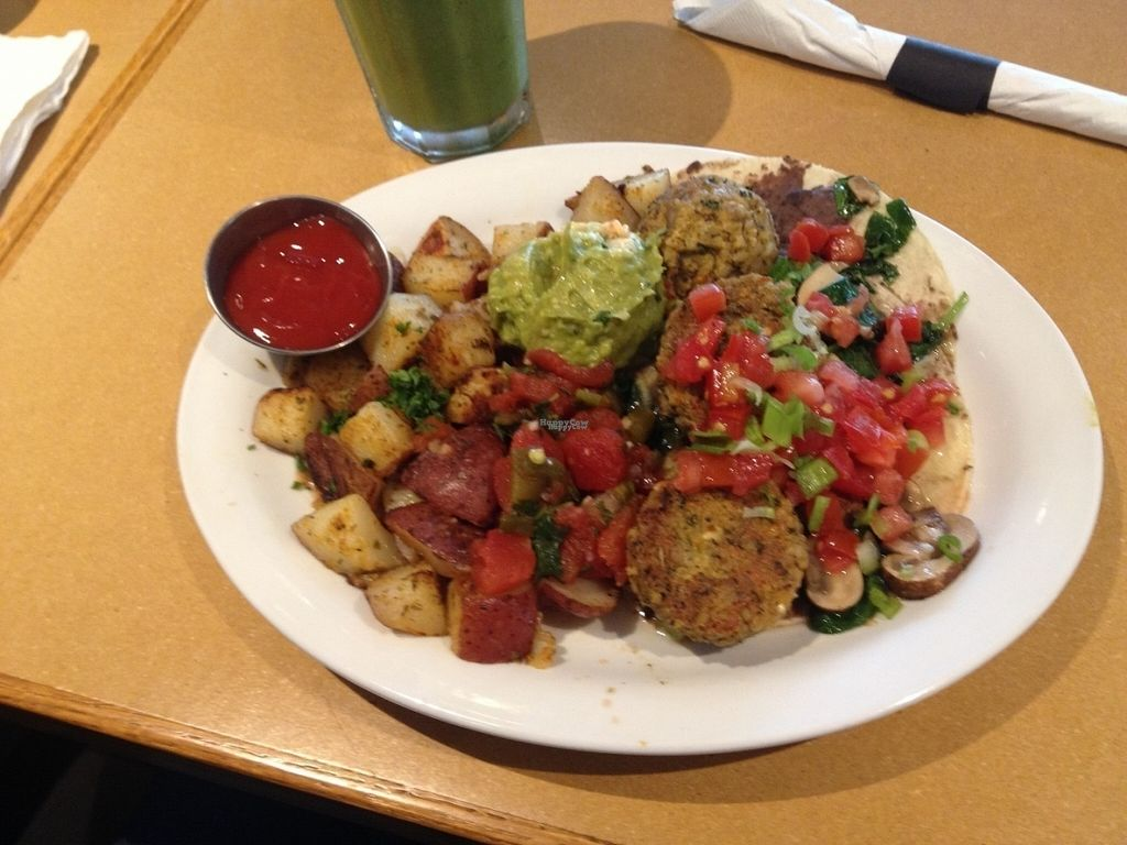 """Photo of Stella's Cafe and Bakery - Portage Ave  by <a href=""""/members/profile/o0Carolyn0o"""">o0Carolyn0o</a> <br/>mexican vegan brunch <br/> September 26, 2016  - <a href='/contact/abuse/image/39960/178082'>Report</a>"""