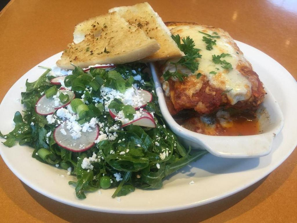 """Photo of Stella's Cafe and Bakery - Portage Ave  by <a href=""""/members/profile/gwild"""">gwild</a> <br/>veggie lasagna and arugula salad <br/> November 27, 2014  - <a href='/contact/abuse/image/39960/86635'>Report</a>"""