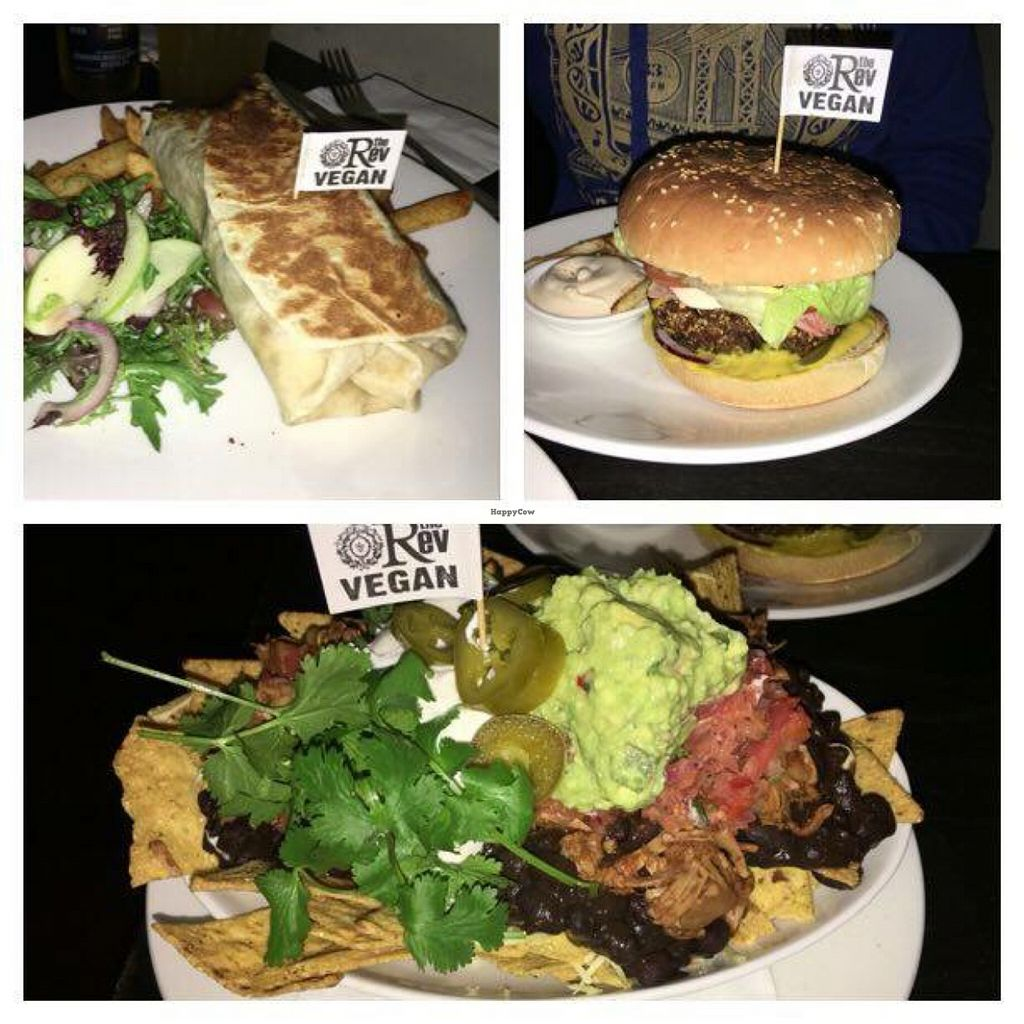"""Photo of The Reverence Hotel  by <a href=""""/members/profile/Lopan"""">Lopan</a> <br/>Burrito, Blackbean burger and the Nachos <br/> June 18, 2016  - <a href='/contact/abuse/image/39973/154717'>Report</a>"""